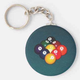 Billiards Nine Ball Keychains