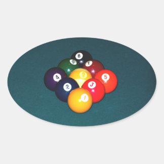 Billiards Nine Ball Oval Sticker