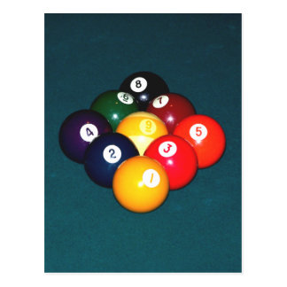 Billiards Nine Ball Postcard