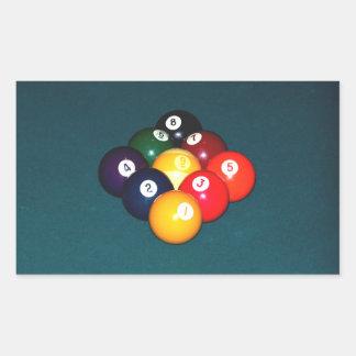 Billiards Nine Ball Rectangular Sticker