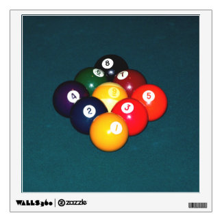 Billiards Nine Ball Wall Decal