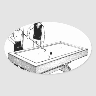 billiards oval sticker