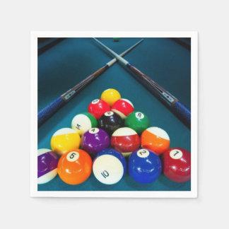 Billiards Paper Napkins