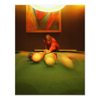 Billiards Player Perspective Card