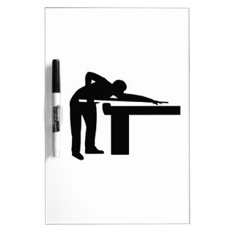 Billiards player pool table Dry-Erase whiteboard