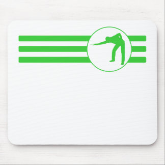 Billiards Player Stripes (Green) Mouse Pad