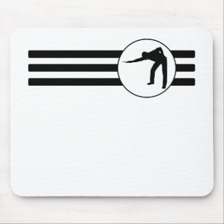 Billiards Player Stripes Mouse Pad