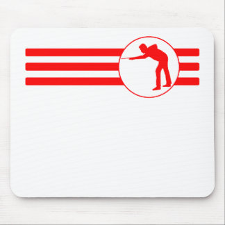 Billiards Player Stripes (Red) Mouse Pad