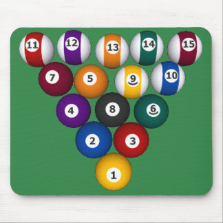 Billiards / Pool Balls - Custom Mousepad