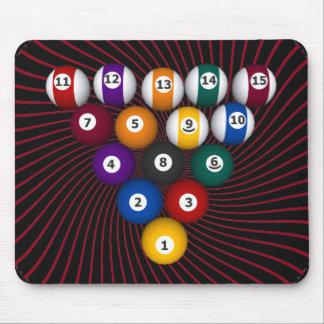 Billiards / Pool Balls: Custom Mousepad: Billiard Mouse Pad