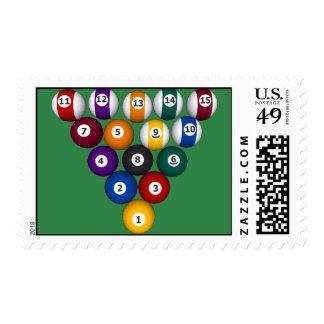 Billiards / Pool Balls - Cutom Postage Stamp