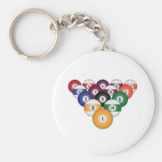 Billiards / Pool Balls: Key Chain