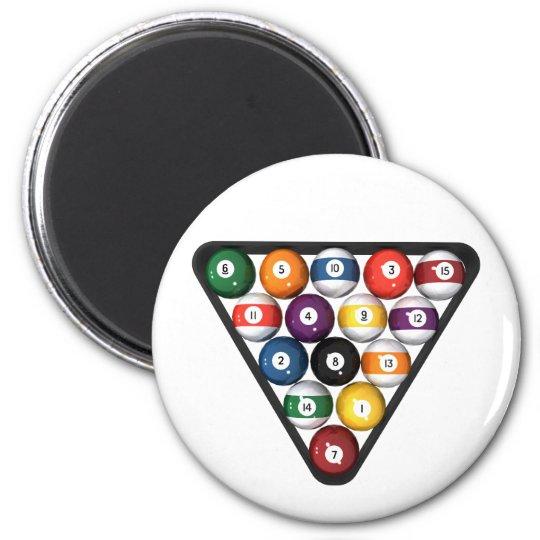 Billiards / Pool Balls Racked: Magnet