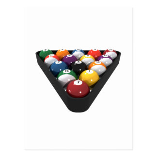 Billiards / Pool Balls Racked: Postcard