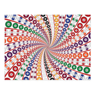 Billiards / Pool Balls Spiral: Postcard