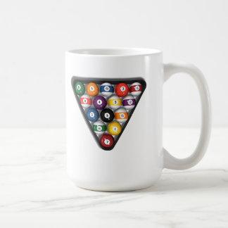 Billiards / Pool Balls with Drop Shadow: Coffee Mug