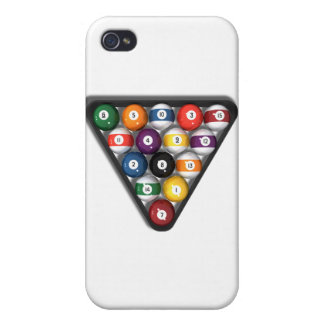 Billiards / Pool Balls with Drop Shadow: iPhone 4/4S Cover