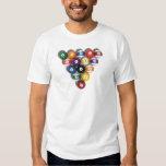 Billiards / Pool Balls with Drop Shadow: T-shirt
