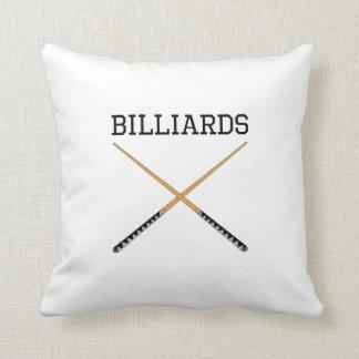 Billiards Pool Cues Throw Pillows