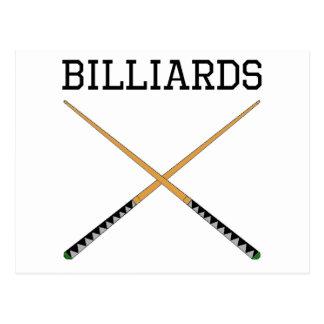 Billiards Pool Cues Postcard