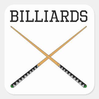 Billiards Pool Cues Square Stickers