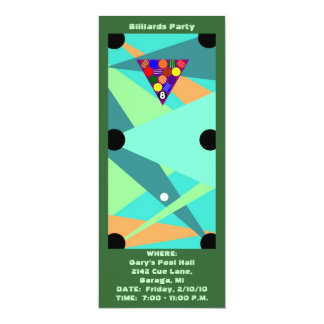 BILLIARDS ~ POOL PARTY INVITATION ~EZ TO CUSTOMIZE
