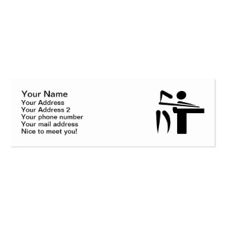 Billiards pool player business cards