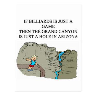 BILLIARDS pool player Postcard