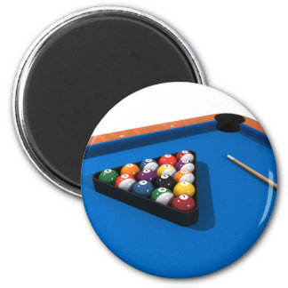 Billiards / Pool Table: Blue Felt: 2 Inch Round Magnet