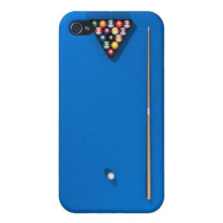 Billiards / Pool Table: Blue Felt: iPhone 4 Covers