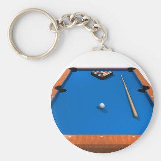 Billiards / Pool Table: Blue Felt: Keychain