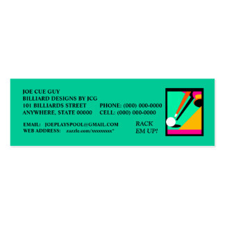 BILLIARDS-POOL TABLE IN ABSTRACT ~ PROFILE CARDS! BUSINESS CARD