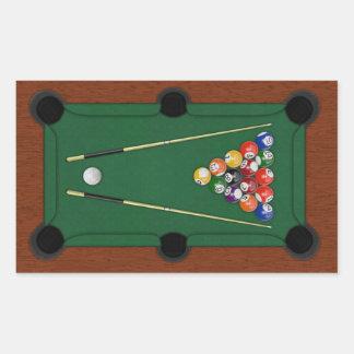 Billiards Rectangular Sticker