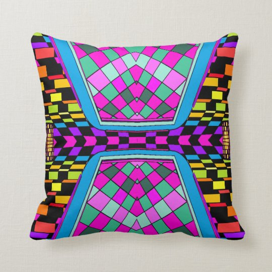 Billiards ReMix Pop Art Geometrix Designer Pillow