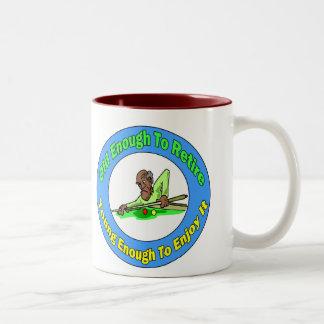 Billiards Retirement Two-Tone Coffee Mug