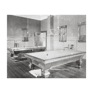 Billiards Room, 1901 Canvas Print