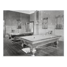 Billiards Room, 1901 Postcard