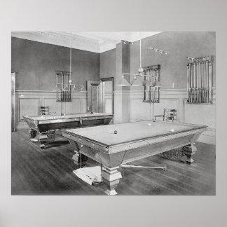 Billiards Room, 1901 Poster
