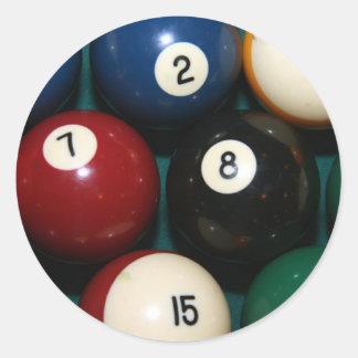 Billiards Round Stickers