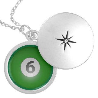 Billiards Six Ball Locket Necklace