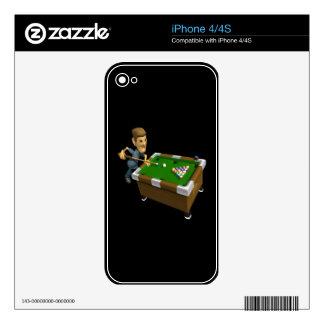 Billiards Decals For iPhone 4S