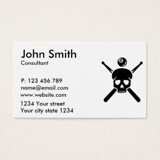 Billiards skull business card