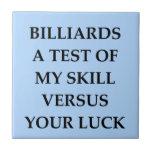 billiards small square tile