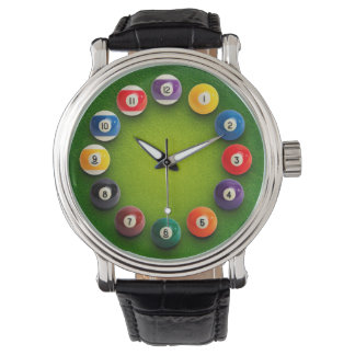 Billiards Snooker Novelty Clock Watch