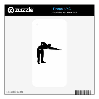 Billiards Snooker player Decals For iPhone 4