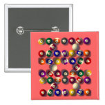 Billiards Square Badge Pin