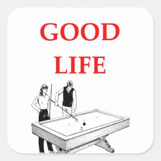 billiards square sticker