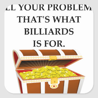 BILLIARDS SQUARE STICKER