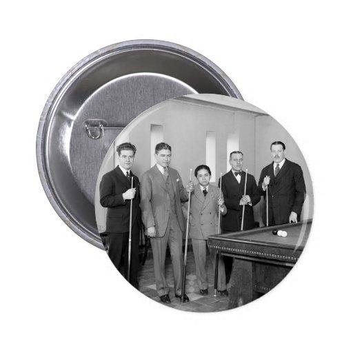 Billiards Stars: 1927 2 Inch Round Button