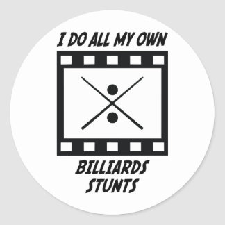 Billiards Stunts Classic Round Sticker